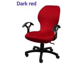 Donkerrode kleur lycra computer stoel cover fit voor bureaustoel met armsteun spandex stoel cover decoratie