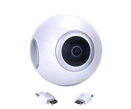 720 Graden Panoramische Camera HD 360 Video VR Camera Dual Groothoeklens Real Time Live-uitzending Voor Android Smartphone