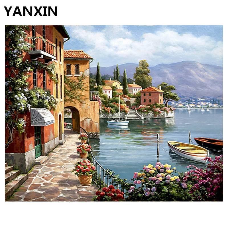 YANXIN DIY Frame Schilderij Nummers Olie Verf Wall Art Foto Decor Voor Woninginrichting E720