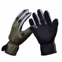 MyXL Trulinoya Waterdichte Antislip Ademend Vissen Handschoenen Legergroen Kleur Outdoor Handschoenen