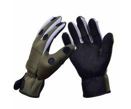 Trulinoya Waterdichte Antislip Ademend Vissen Handschoenen Legergroen Kleur Outdoor Handschoenen
