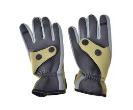 1 Paar Antislip Neopreen Winter Vissen Handschoen Mannen Ademend Duurzaam antislip Sport Zachte Vliegvissen Handschoen