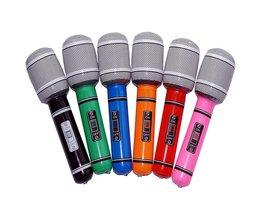 6 stks 30 cm 40 cm Opblaasbare Microfoon Blow Up Zingen Party Tijd Ster Disco Speelgoed KinderenFeestartikelen