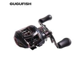 GUGUFISH Water Drop Wiel 12BBs Kogellagers Links/Rechterhand Visserij-reel 6.3: 1 Hoge Snelheid Baitcasting Carretilha De Pesca