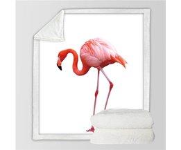 BeddingOutlet Girly Fluwelen Pluche Ultra Zachte Gooi Deken Schattige Flamingo Patroon Sherpa Gooi Deken Dier Gedrukt Wasbare