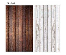 NeoBack pasgeboren baby Fotografie Achtergrond Houten Vloer Digitale Afdrukken Vinyl Doek Studio Foto Achtergronden wit bruin opties