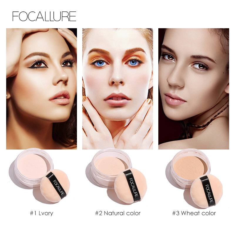 Gezicht Poeder Ultralichte Perfecting Afwerking Losse Poeder Doorschijnende Losse Poeder Concealer 7g Maquiagem Minerale  Focallure