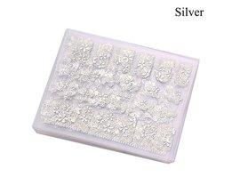 12 Stk/set Pro 3D DIY Metallic Beauty Goud Zilver 3D Nail Art Stickers Decals Bloem Manicure Decoratie Gereedschappen <br />  MyXL