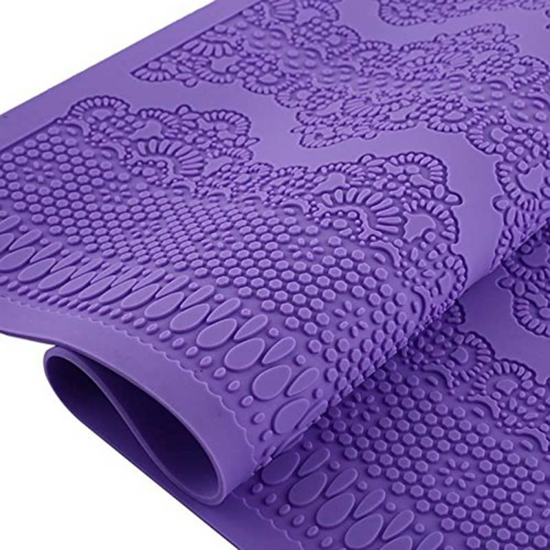 Fondant Chocolade Silicone Mold Kant Siliconen Matten Bruidstaart Decoratie Zoetwaren Suikerpasta Su