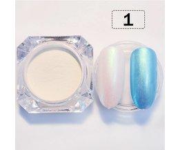 2 g/doos GEBOREN PRETTY Shining Nail Glitter Pearl Shimmer Nail Poeder Nail Dust Poeder 3 Kleuren Mermaid Manicure Nail Art Glitter <br />  Born Pretty