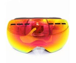 Professionele Skibril Mannen Vrouwen Anti-fog 2 Lens UV400 Volwassen Winter Skiën Brillen Snowboard Sneeuwbril Set Volledige kleur <br />  RBworld