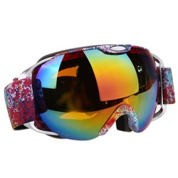 MyXL Unisex Dubbele Lens Skibril UV400 anti-condens Sferische Anti-wind Ski Snowboard Sneeuw Schaatsen Skiën Grote Masker bril BHU2 <br />  ROBESBON