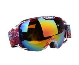 Unisex Dubbele Lens Skibril UV400 anti-condens Sferische Anti-wind Ski Snowboard Sneeuw Schaatsen Skiën Grote Masker bril BHU2 <br />  ROBESBON