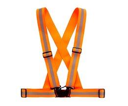 Zicht Veiligheid Kleding Chaleco Reflectante 360 Graden Neon Reflecterende Vest Riem Running Fietsen Sport Outdoor Kleding <br />  MyXL