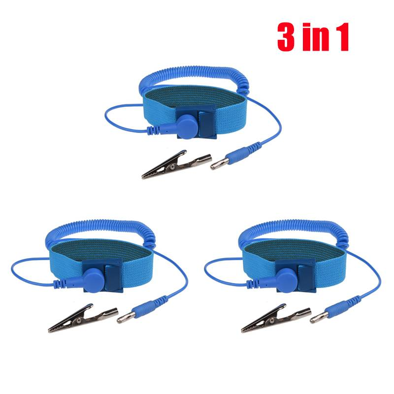 Verstelbare Anti Statische Armband Elektrostatische ESD Ontlading Kabel Herbruikbare Wrist Band Stra