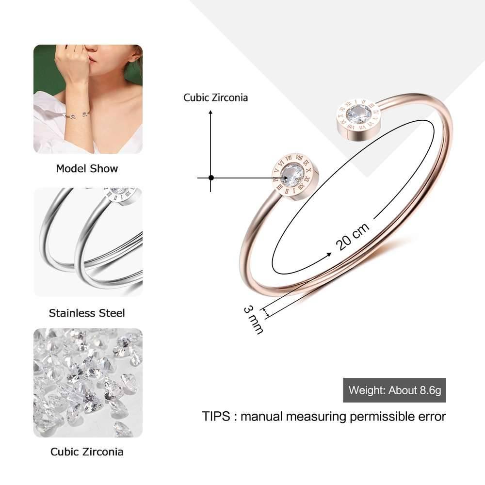 Verstelbare Open Rvs Armband Bangles 3 Kleur Manchet Armband Voor Vrouwen SieradenVoor Meisjes (Jewe