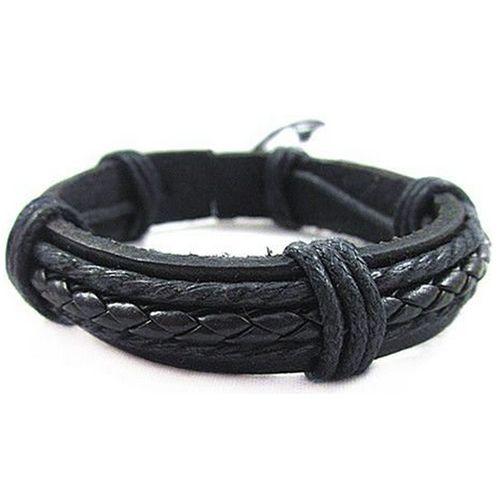 groothandel fabriek prijs PU lederen armbanden armbanden cool braid lederen koord armband mannen Cas