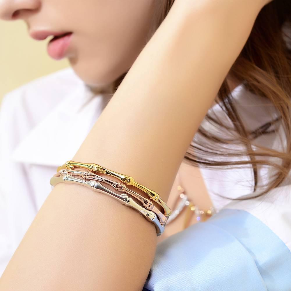 Rose Gold-Goud-Zilver Kleur Vrouw Armband & Bangles Minimalistische Skinny Armbanden Vrouwelijke Bam