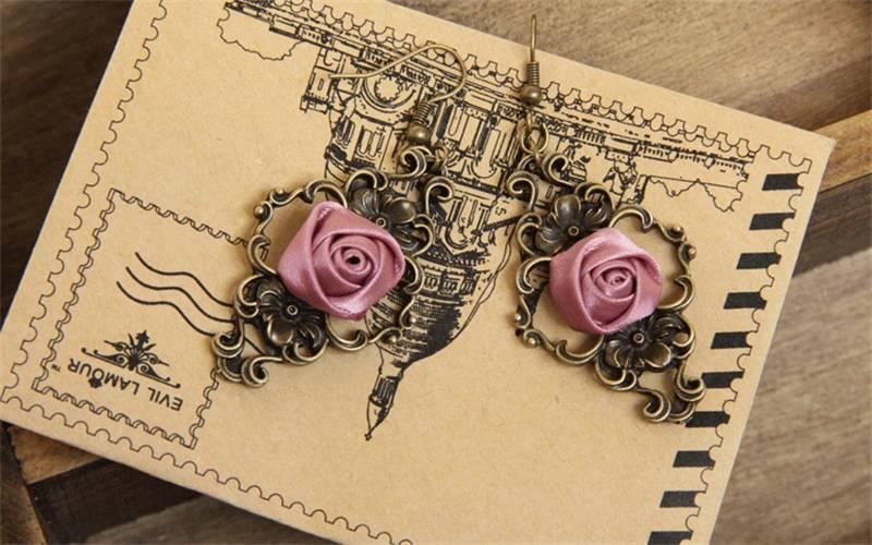 Handgemaakte Dangle Oorbellen Vintage Drop Earring Mode Gothic Sieraden Vrouwen Accessoires Lange Oo