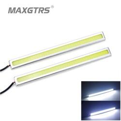 MyXL 2 Stks/set High Power COB Bar Panel LED DRL 17 cm Off road Rijden Dagrijverlichting lamp Aluminium Wit 12 V<br />  MAXGTRS