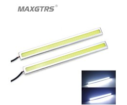 2 Stks/set High Power COB Bar Panel LED DRL 17 cm Off road Rijden Dagrijverlichting lamp Aluminium Wit 12 V<br />  MAXGTRS