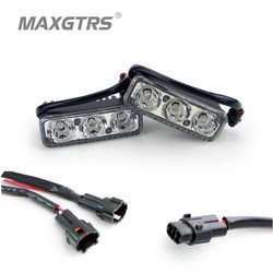 MyXL 2x High Power 6 Led 9 W Universele Waterdichte DRL Metal Shell Auto Lamp Wit Met Gele Richtingaanwijzer Auto Lichtbron 12 V JG <br />  MAXGTRS