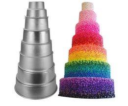 Thuis Keuken Cake Bakvorm Pan Bakvormen Tool Aluminium non-stick Ronde 2/4/6 Inch <br />  Aihogard