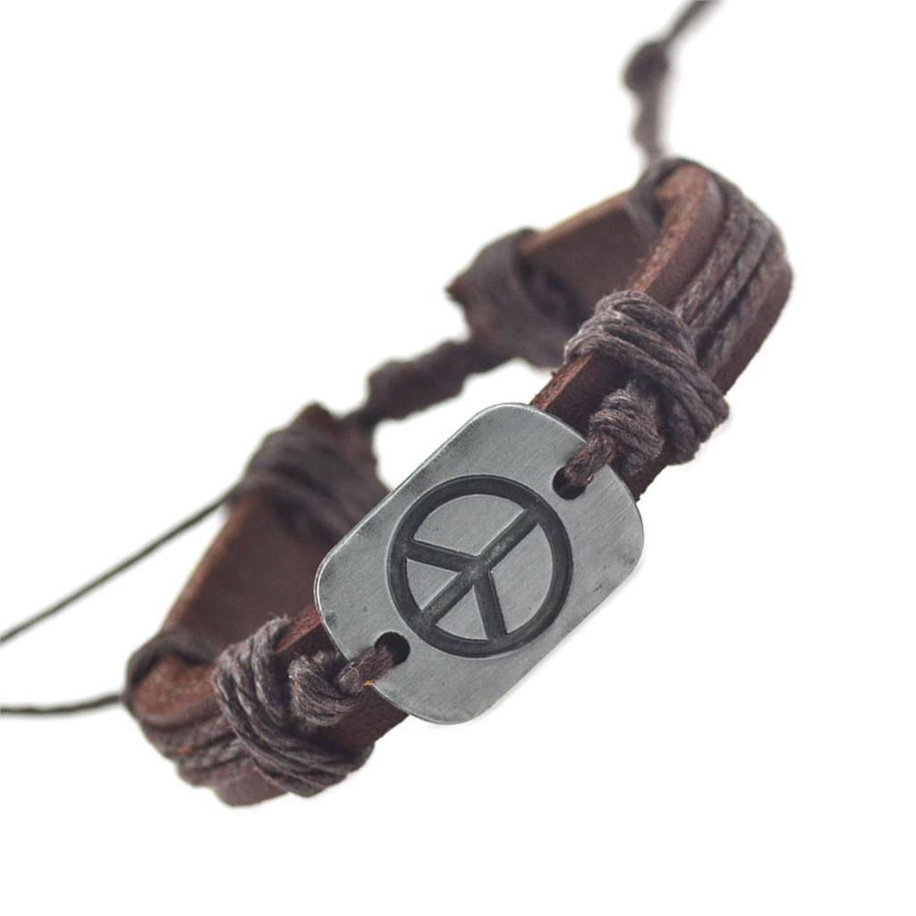 Collectie Lederen Armbanden Voor Vrouwen Mannen Vrede Armbanden & Bangles Mode Fijne Sieraden   YAKA