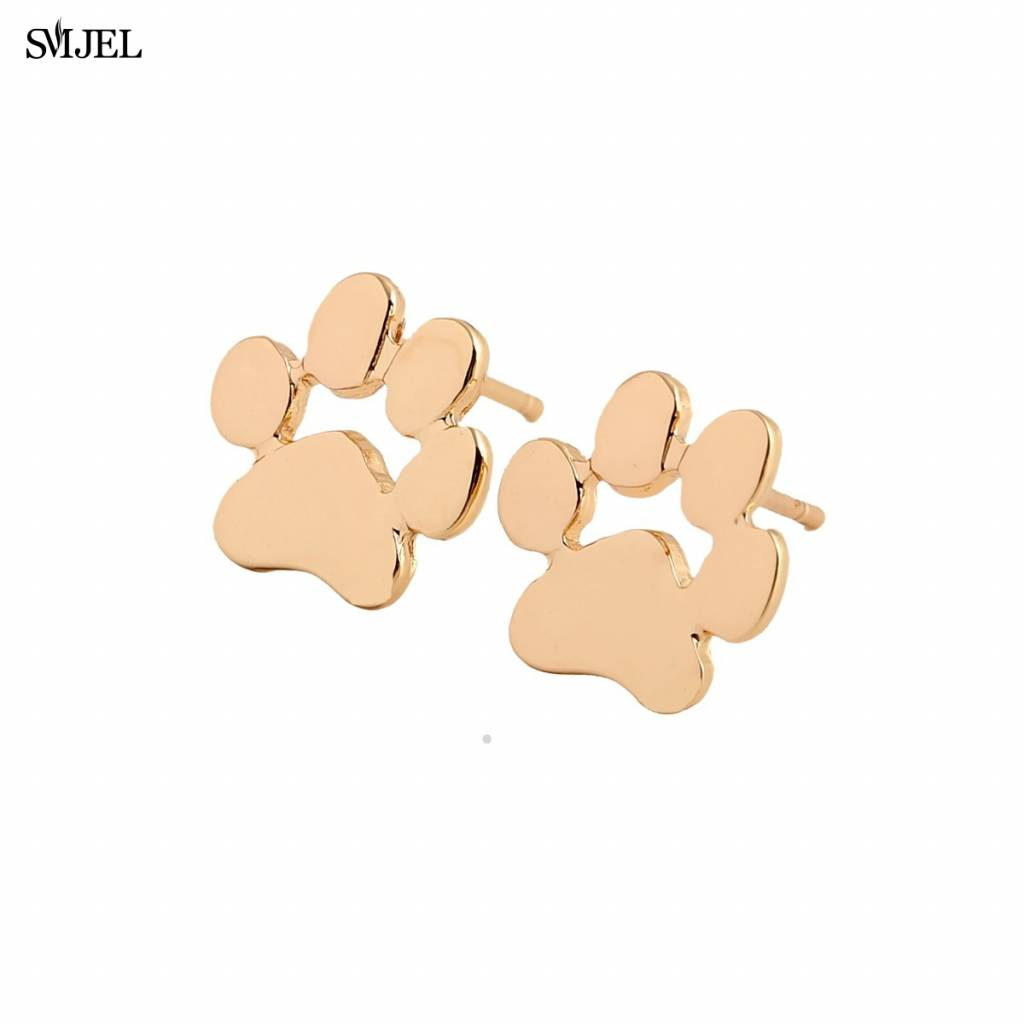 Accessoires Mode bijoux Tiny Pug sieraden Leuke Kat Print Oorbellen voor Vrouwen Hond Poot Studs Oor
