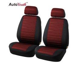 2 STKS Auto Stoelhoezen 5 MM Foam Airbag Compatibel Universal Fit Meest Vans Minibus Gescheiden Autostoel <br />  AUTOYOUTH