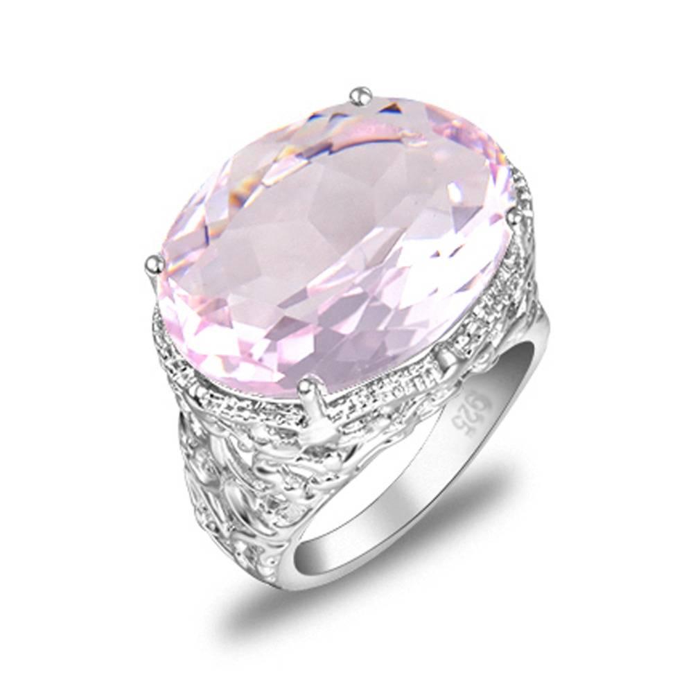 Ovale Roze Fire Crystal Verzilverd Trouwringen Rusland VS HolidayRingen Australië Ringen