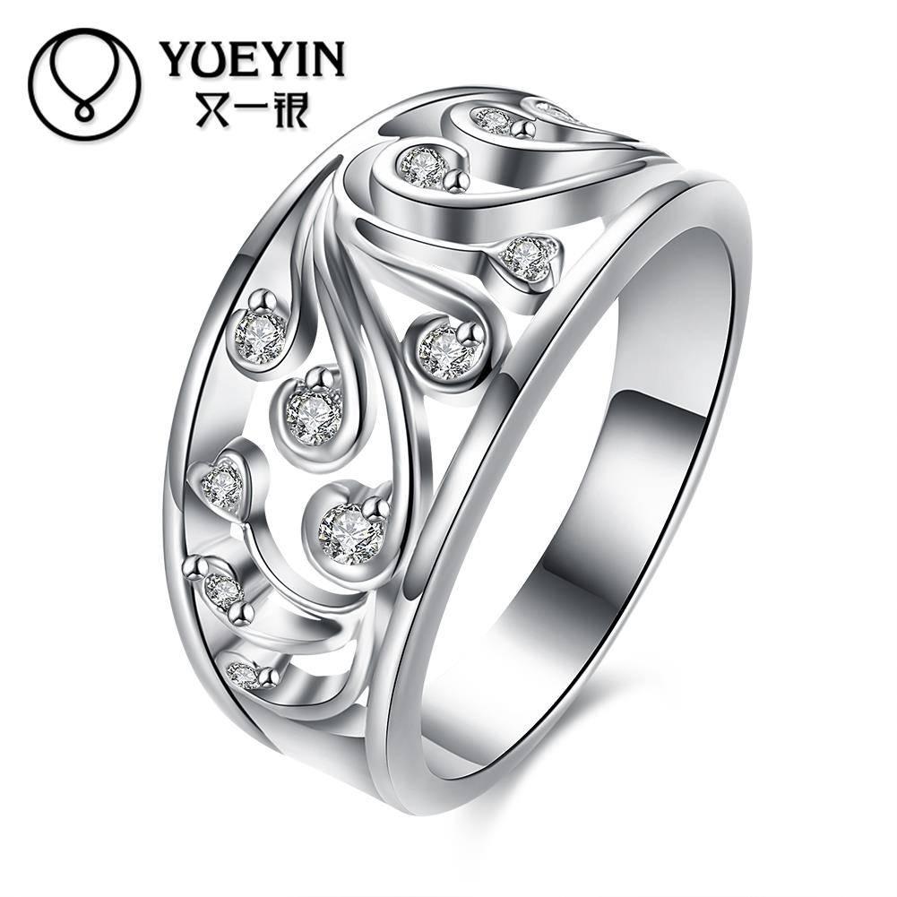 Verzilverd trouwringen voor bridal mode-sieraden bague argent RomantischeVrouwelijke ringen