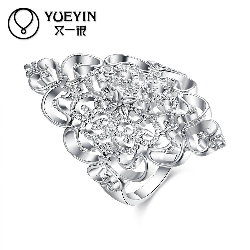 Vrouwelijke sieraden verzilverd trouwringen verzilveren sieraden anel feminino Nooit vervagen Origin