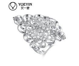 Vrouwelijke sieraden verzilverd trouwringen verzilveren sieraden anel feminino Nooit vervagen Originele ontwerpen dames ringen