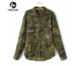 HZIJUEMode Lange Mouw chaqueta militar Jas Vrouwen Groen Militaire Jassen Slanke Geborduurde Vrouwen Jas Blouses Jassen