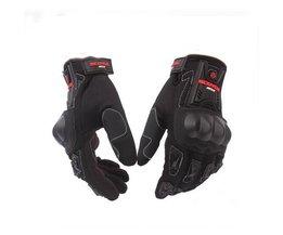 Motorhandschoenen Fietsen Racing Riding Beschermende Handschoenen Motocross Handschoenen Scoyco MC12 Volledige Vinger Carbon Veiligheid