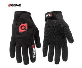 QEPAE Mannen/Vrouwen Winter Outdoor Fietsen Mountainbike Handschoenen Racefiets Riding Antislip Volledige Vinger Handschoen paardrijden Skiën