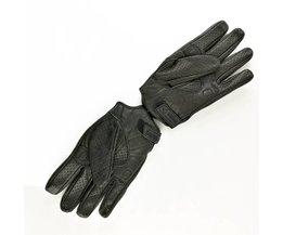 HZYEYO Geit Lederen Achtervolging Handschoenen Racing Sport Motorfiets Vingerhandschoenen Hebben gat kan ademend, maat M/L/XL, HZ-001