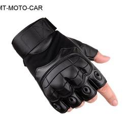 MyXL Outdoor tactische motorhandschoenen fietsen half vinger guantes rubber softshell lederen motobike handschoenen 1 paar
