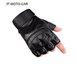 Outdoor tactische motorhandschoenen fietsen half vinger guantes rubber softshell lederen motobike handschoenen 1 paar