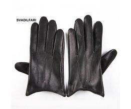 SVADILFARI groothandelLente Vrouwelijke Real Leather Korte Dunne/Dikke Zwarte Touchscreen Handschoenen vrouw Auto Vrouwen Rijden Wanten