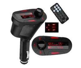 Auto Auto Groen Licht Draadloze USB Kit Tr ansmitter Auto Mp3-speler Voor SD MMC LCD Remote FM Transmit ter Modulator
