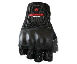 Scoyco MC12D Motorfiets Half Vinger Zomer Hoge Beschermende Shell Racing Handschoenen Motorrijden guantes motorcross moto luvas