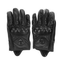 MyXL Stijlvolle Lederen Motorhandschoenen Beschermende Armor Korte Handschoenen M/L/XL Volledige Vinger Zonder GatVoor Riding Sport