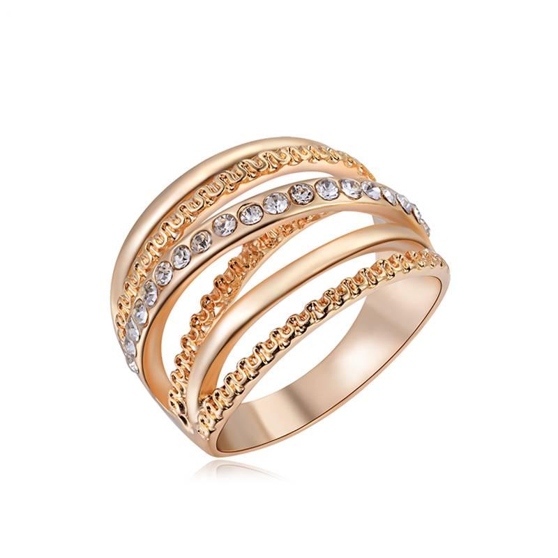 ROXIVrouwen Ring Rose Goud Kleur Vinger Verlovingsringen voor Vrouwen Trouwringen anillos Lichaam Si