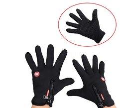 Sikeo 2018 Volledige Vinger Winddicht Man Vrouwen Winter Touchscreen Handschoenen Warm Bike Sport Handschoenen Motorcycle Fiets Handschoenen