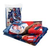Voor Vrolijke KerstSet 4 Stks Kerst Kerstman 3D Beddengoed Set Dekbedovertrek Laken Kussensloop Sham Covers