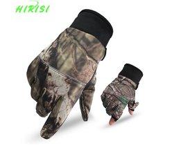Camo Vissen Handschoenen Jacht Handschoenen Antislip 2 Vingers Cut Camping Fietsen Half Vinger Handschoenen