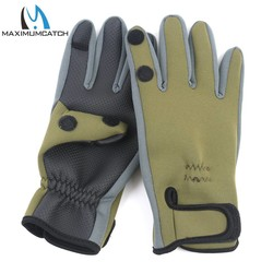 MyXL Maximumcatch 1 Paar Neopreen Vissen Handschoenen Waterdichte Antislip Vissen Handschoenen