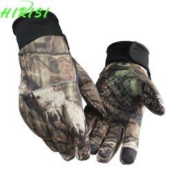 MyXL Camouflage Vissen Handschoenen Screen Touch Jacht Handschoenen Outdoor Sporting Camping SML